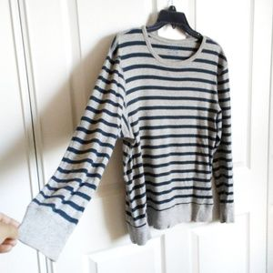 J. Crew Factory Shirts - J. Crew Factory Marled Long Sleeve Stripe Tee